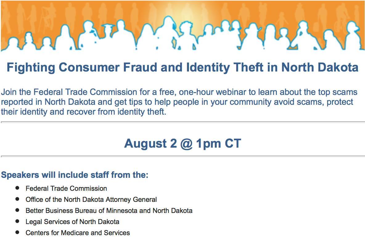Fighting Consumer Fraud and Identity Theft in North Dakota