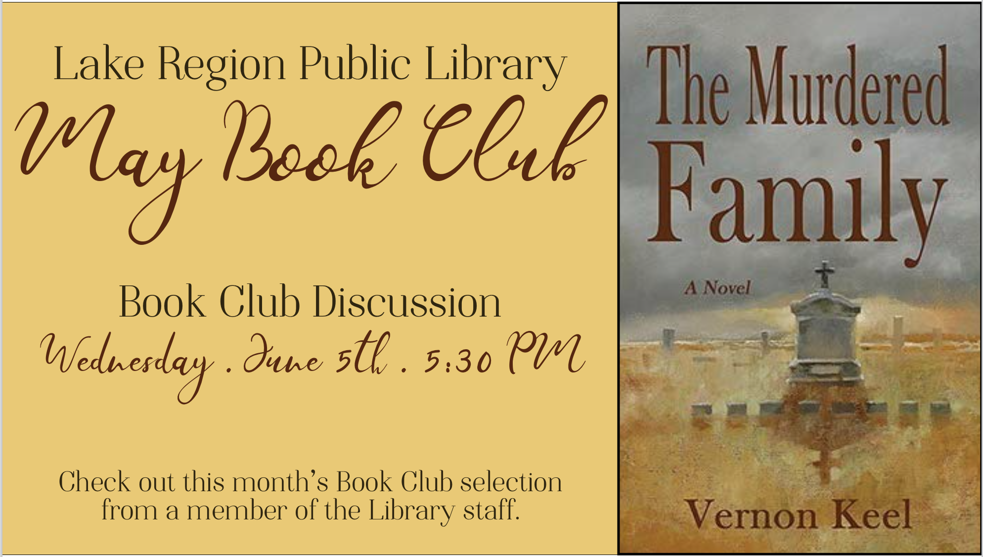 LRPL May Book Club: The Murdered Family