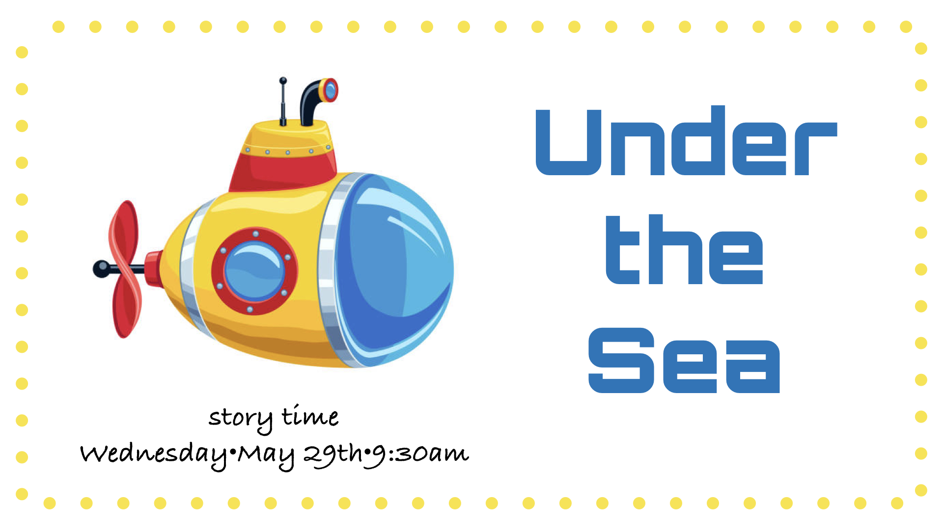 Preschool Storytime~May 29th, 2019