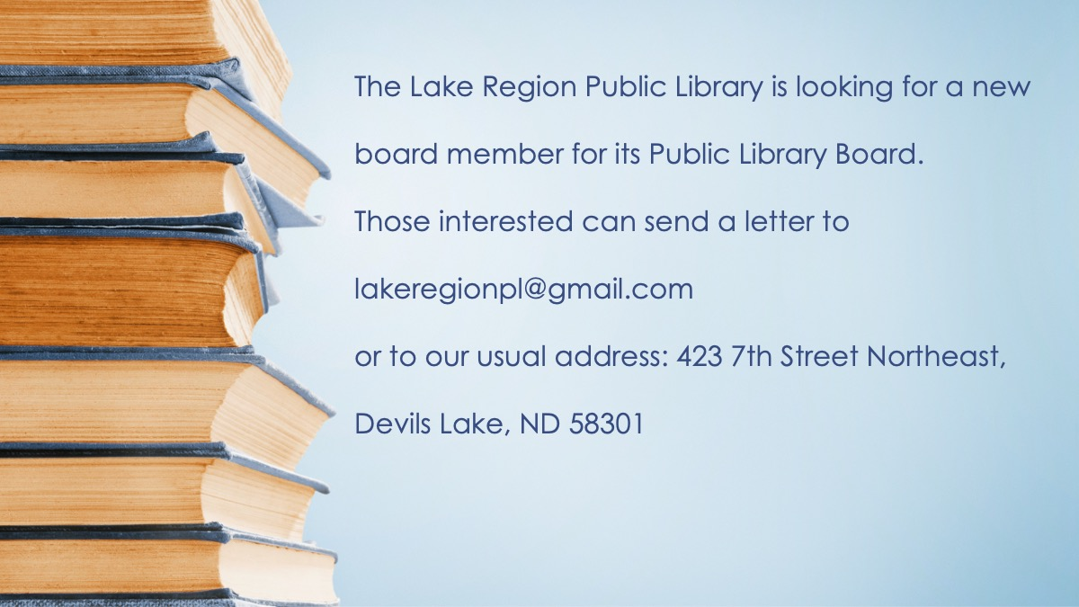 New Library Board Member Wanted